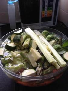 soaking veg in 11.5