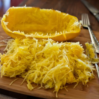 Cooked sphagetti squash