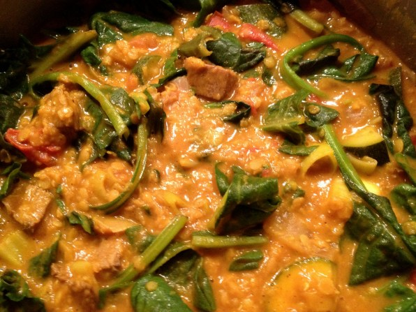Cooked curry - yum