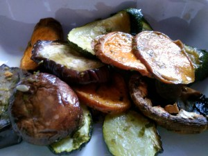 Quick Roasted Veggies: