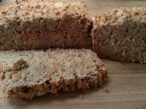 Carrot, Oat, Chestnut and Caraway gluten-free bread