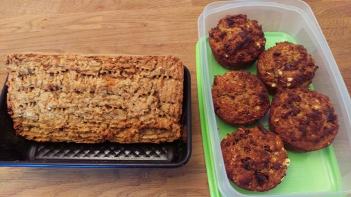 Ready to go along with Carrot, oat, chestnut bread