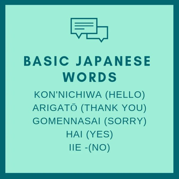 basic japanese words