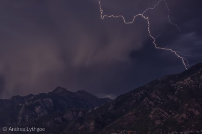 Lightning over the Wasatch-1