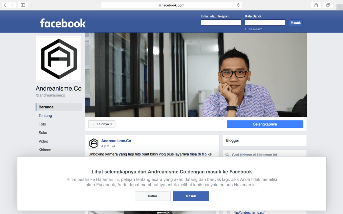 Bikin Facebook Pages!