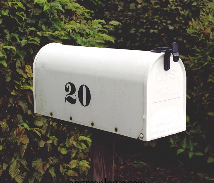 Reclaiming the mailbox