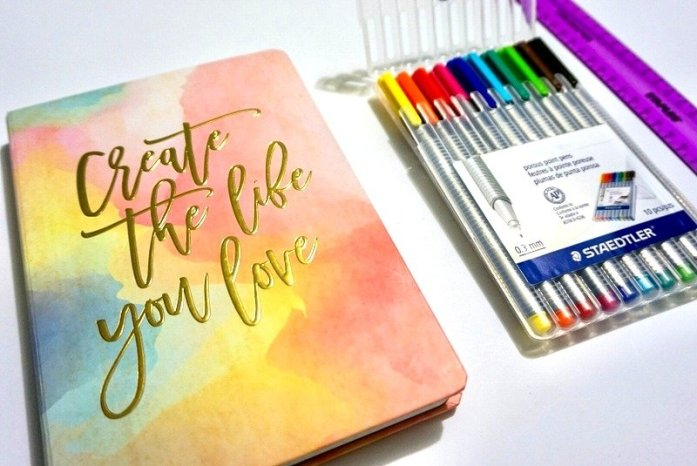 How I Set Up My First Bullet Journal | www.andreapeacock.com