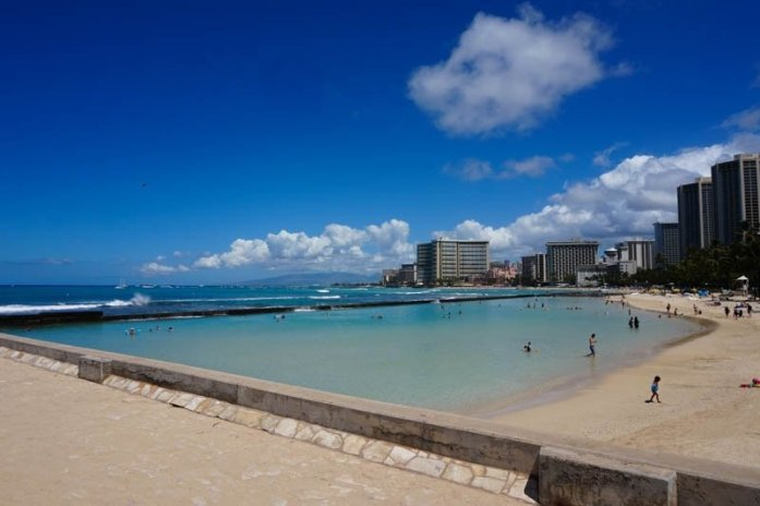 Waikiki Beach in Honolulu, Hawaii