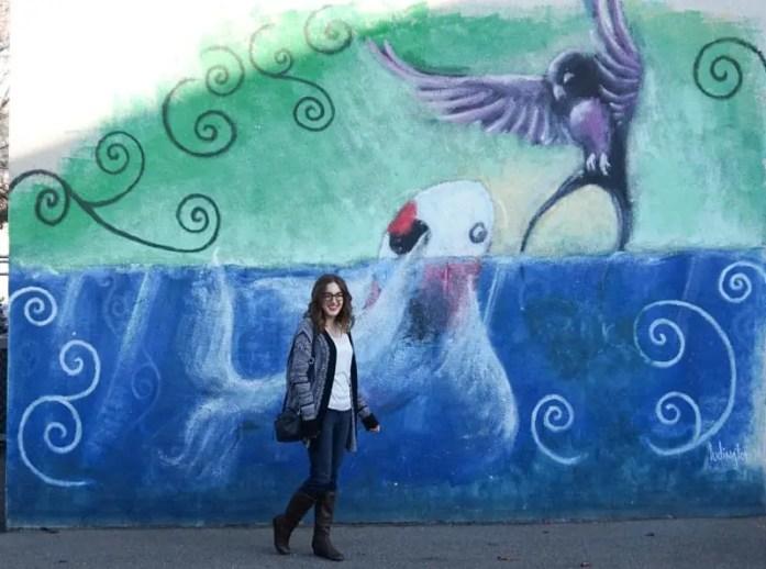 Bird mural in Penticton, British Columbia