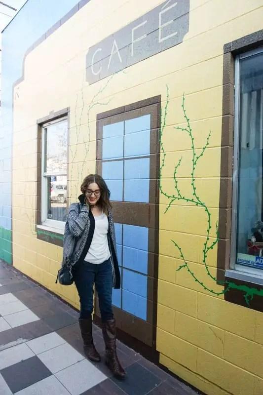 Murals in Penticton's Main Street laneway