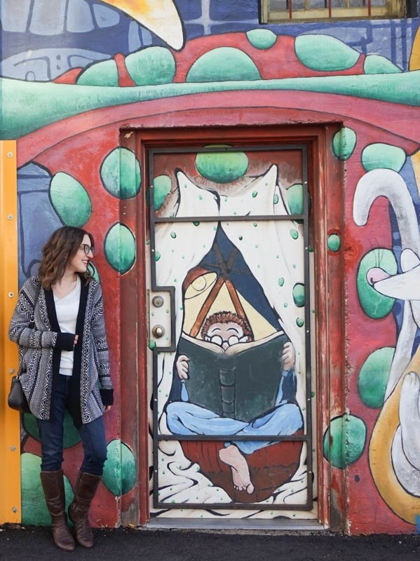 The Book Shop mural in Penticton, B.C.