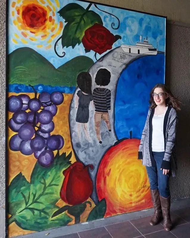 Okanangan wine country mural in Penticton, B.C.