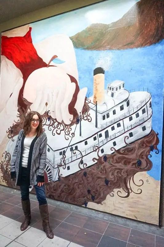 SS Sicamous mural in Penticton, B.C.
