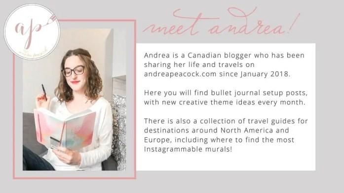 Andrea Peacock blog