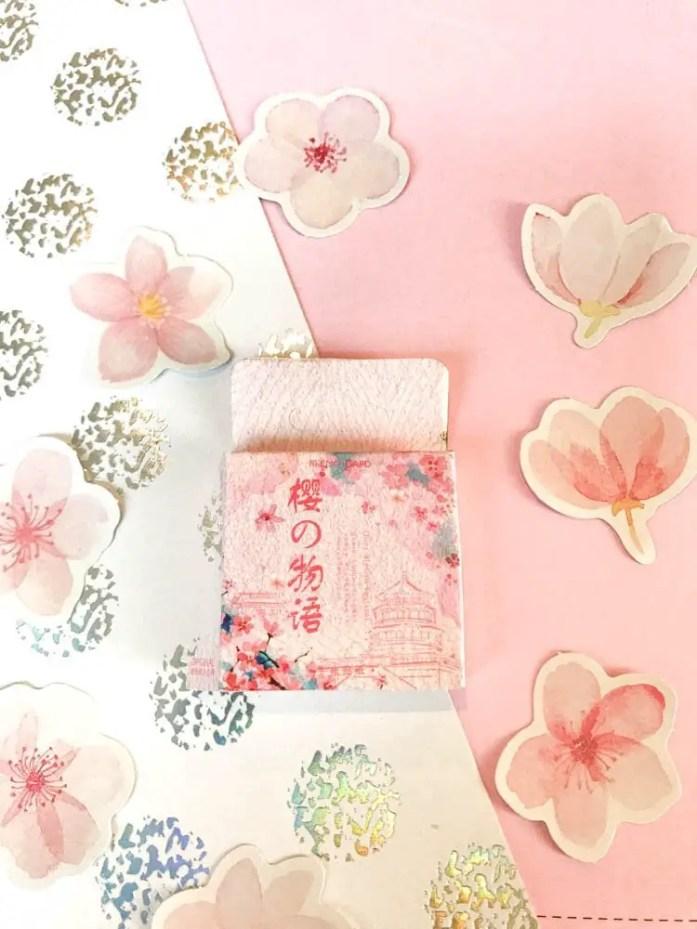 Bullet Journal Supplies cherry blossom stickers