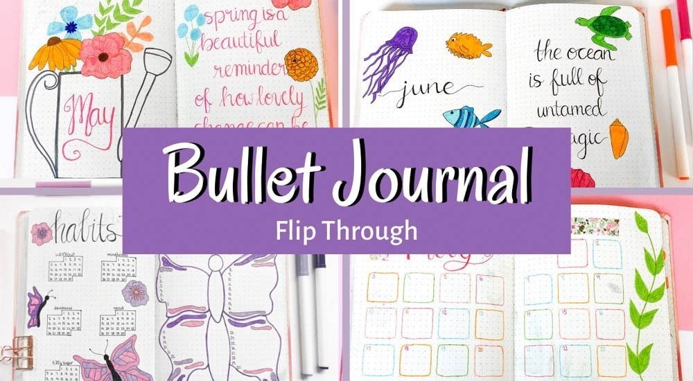 Completed Bullet Journal Flip Through