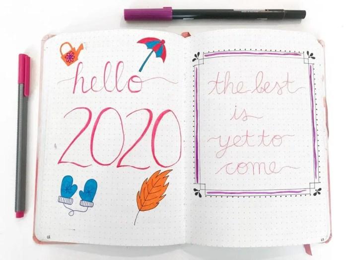 bullet journal setup 2020