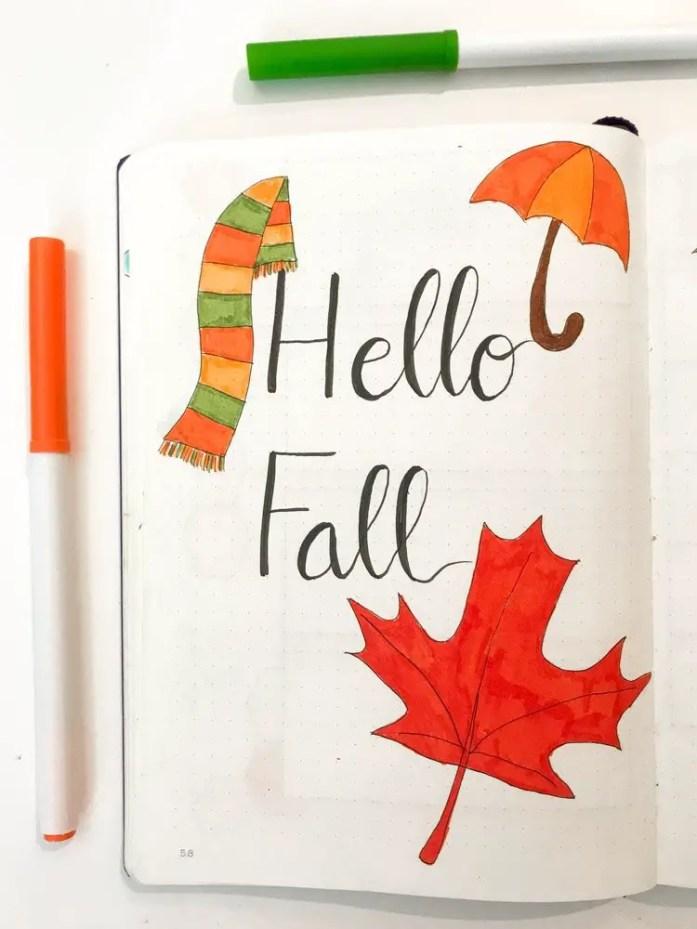 hello fall bullet journal