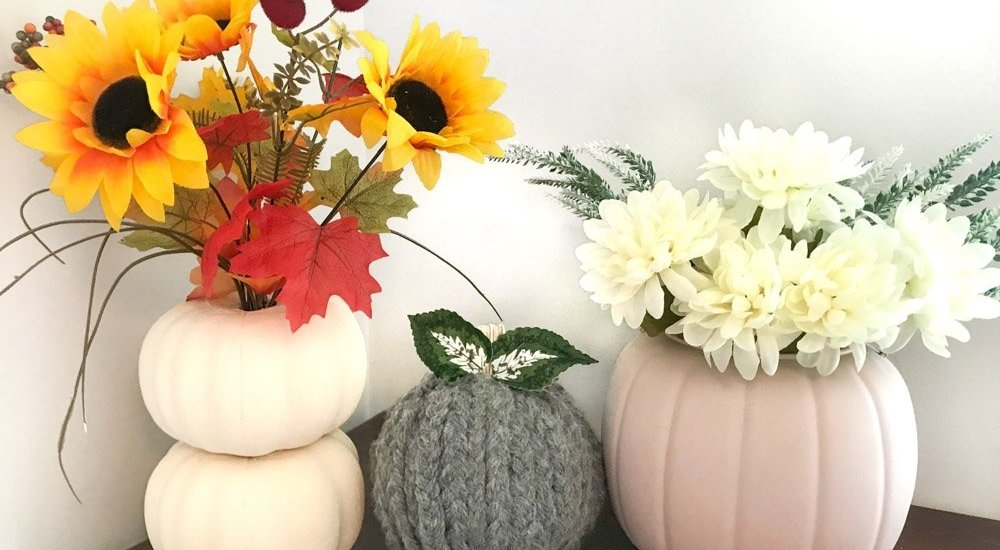 fall DIY Dollar Tree pumpkins