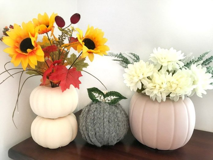 fall DIY Dollar Tree pumpkins