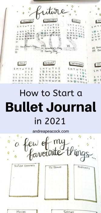how to start a bullet journal in 2021