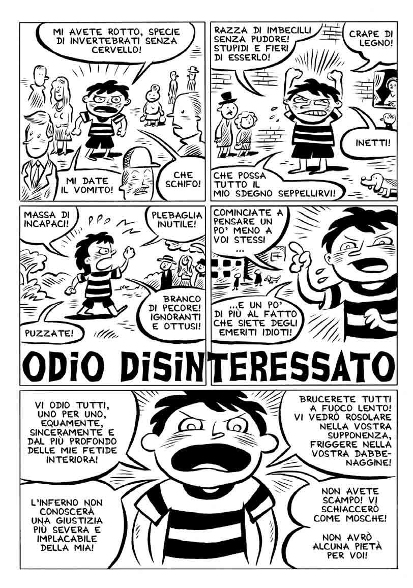 ODIO DISINTERESSATO di Tuono Pettinato p. 1