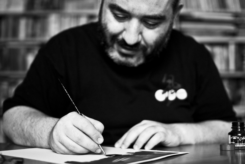 Palumbo al lavoro (Foto Andrea Venturini)
