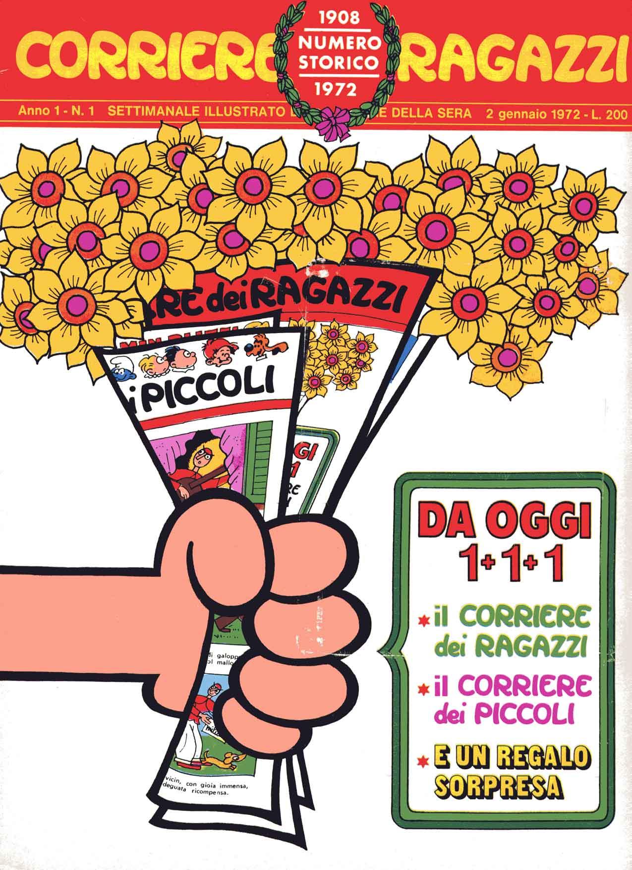"""Il primo numero del """"Corriere dei Ragazzi"""" (1972)"""