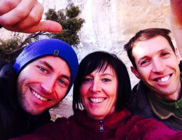 Io, Matteo e l'amica austriaca Barbara Raudner