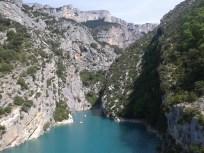 La fine...o l'inizio...del Gran Canyon du Verdon dove il fiume sfocia nel Lac de Sainte Croix