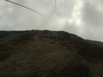 Uno sguardo verso l'alto...le corde volano al vento...aderenza!!