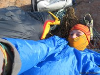 Carlo anonymous - wake up on top of Tsaranoro Atsimo after the first free ascent in one day