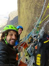 Sbisi and Carlo on belay