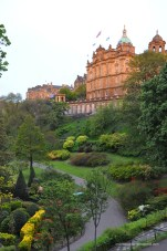 The park in the river bed below Edinburgh. Awesome and well kept landscaping in this city!
