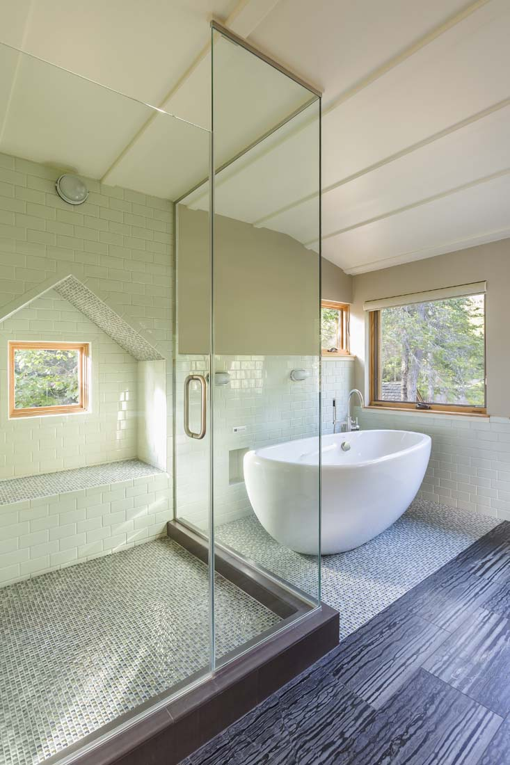 Large Soaking Tub And Walk In Shower Andrea Rugg Photography