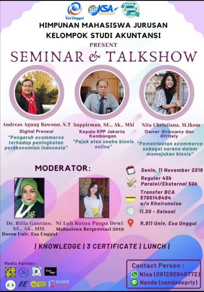 Seminar E-Commerce Universitas Esa Unggul Jakarta