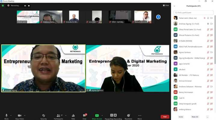 Webinar Digital Marketing dan Entrepreneurship PETRONAS