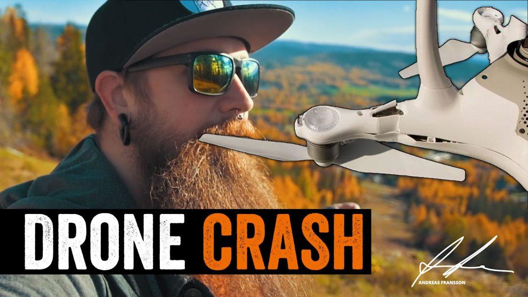 DJI Phantom 4 drone crash