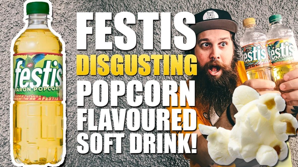 Festis PÄRON POPCORN (Pear Popcorn) soft drink TASTE TEST!