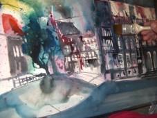 Entstehung des Aquarells Braunschweig von Andreas Mattern