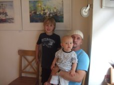 Meine Söhne Melvin und Leon