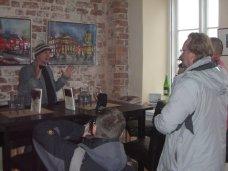 Andreas Mattern mit 3 Reportern aus Travemünde