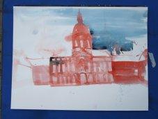 1. Zustand Aquarell Schloss Charlottenburg von Andreas Mattern