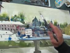 Entstehung Aquarell Salzburg von Andreas Mattern 3