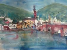Heidelberg - Aquarell von Andreas Mattern