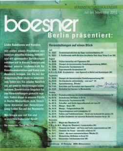 Veranstaltungen bei Boesner Berlin Mariendorf