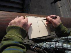 Ich skizziere die Elbphilharmonie