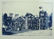 Jahresgabe 2 - Reichstag - Aquatinta von Andreas Mattern - 10 x 15 cm - Auflage 50 Stück