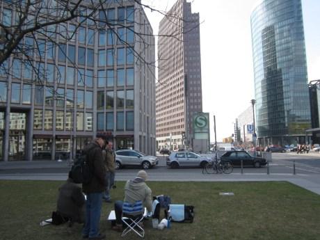 Am ersten Tag malten wir am Potsdamer Platz
