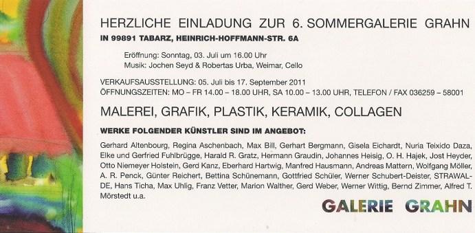 Einladung Galerie Grahn